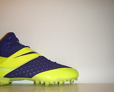 Nike CJ81 Elite TD Volt Promo PE Sample 12.5 Calvin Johnson NFL Megatron Cleats