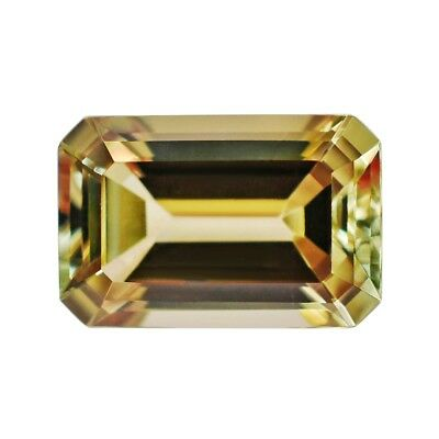 4.5 - 4.9 Ct Zultanite Color-Change Loose Gem 12x8mm Emerald Cut Cert Auth D009