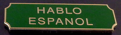 HABLO ESPANOL Award/Commendation Uniform Bar Gold on Green police/sheriff/fire