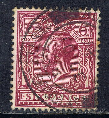 Great Britain #167(1) 1912 6 pence rose lilac George V Used CV$6.50
