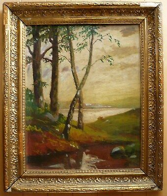 Mystery Antique Old Oil Painting Impressionism Colorism Plein Air Landscape Wow!