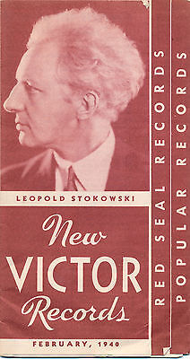 February 1940 New Victor Red Seal Records Catalog, Stokowski, Toscanini, Pops