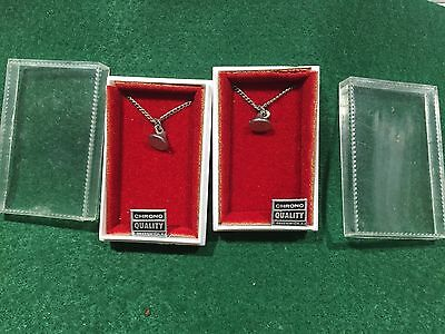Lot of 2 Vintage Pairs of Hershey Kiss Charm Necklaces