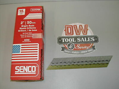 "MADE IN USA Senco 15 Gauge 34 Degree DA Finish Nails 2"" (4,000)"