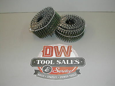 """Made in USA Coil Nails 1 3/4"""" x 083"""" Screw Shank 15 Degree for Bostitch (3,200)"""