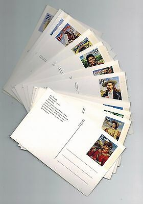 1994 Legends of the West Never Used POSTAL CARD SET of 20 UX178-UX197 #2869