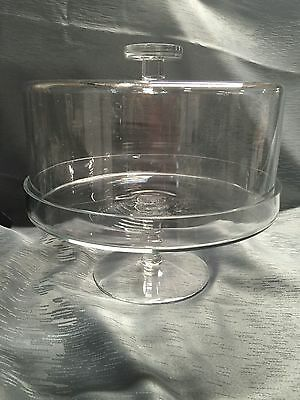 Elegant Large Pedestal Cake Stand with Domed Lid @ Stay Edge