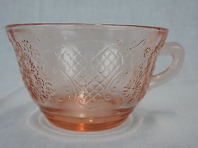 Federal Glass Normandie Pink Depression Cup