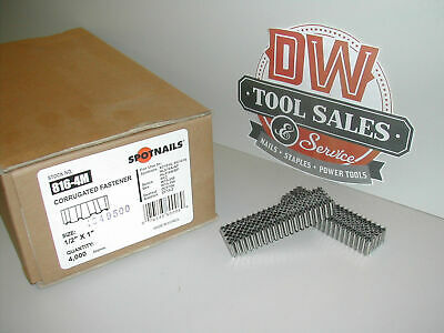 """Corrugated Fasteners 1"""" Width 1/2"""" Length Spotnails 816-4m for Senco Duofast"""