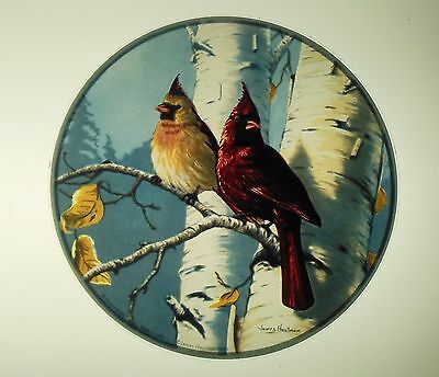 Glassmasters: James Hautman:  Cardinals and Birches   6.5 inches inches