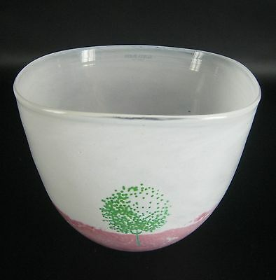 Kosta Boda Glas Schale May-Serie Kjell Engman Design Sweden Glass Bowl