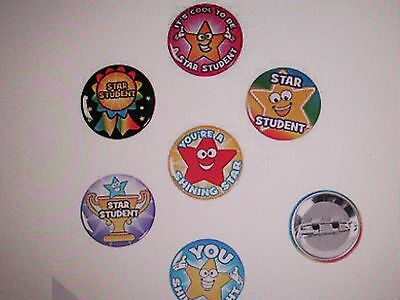 48 STAR STUDENT PINS mini buttons FREE S/H school teacher recognition favors