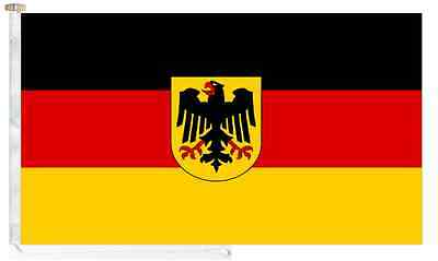Germany State Roped & Toggled 5' x 3' Courtesy Boat Flag