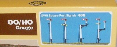Ratio 466. GWR Square Post Signals Kit - New. (00)