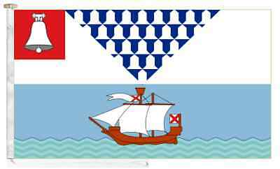 Northern Ireland Belfast City Roped & Toggled 5' x 3' Courtesy Boat Flag