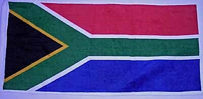 South Africa Flag Cotton Bar Towel   (pp)