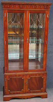Regency Style Mahogany Mirror Back Display Cabinet On Cupboard