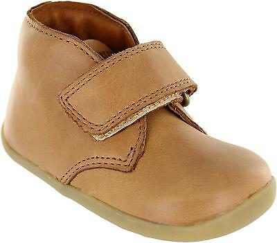 Bobux 625203 Kids Light Brown Single Strap Leather Ankle Wander Style Boots New