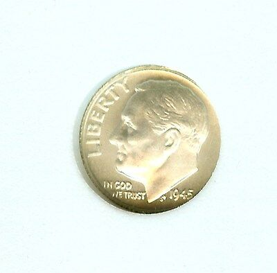 1945 Moonlight Mint Roosevelt 10 Cents 90% Silver  Near Perfect Unc