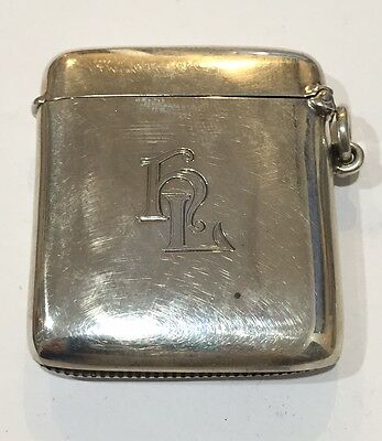 United Kingdom Birmingham Sterling Silver Match Safe by H. Matthews 1891