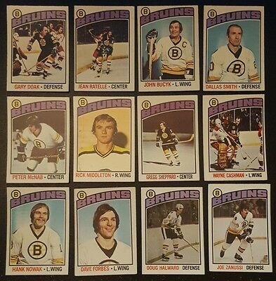1976-77 OPC BOSTON BRUINS Select from LIST NHL HOCKEY CARDS O-PEE-CHEE
