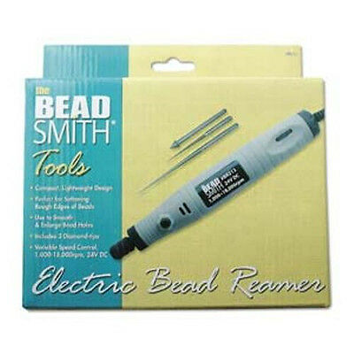 BEADSMITH Electric Bead Reamer - 3 Diamond Tips - Easy to Use!
