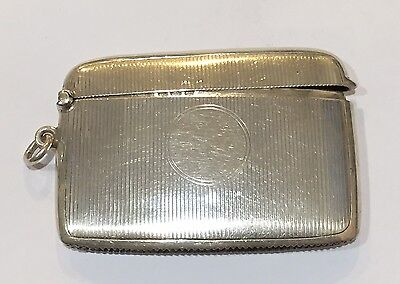 United Kingdom Birmingham Sterling Silver Match Safe S. Blanckensee & Son 1901