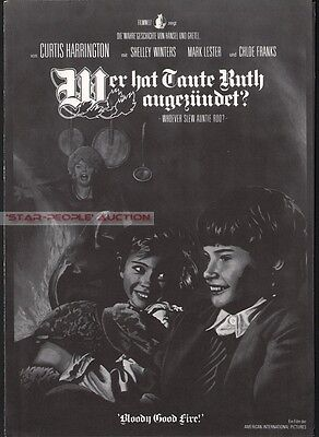 Shelley Winters - Mark Lester - Whoever Slew Auntie Roo? * German Movie Program
