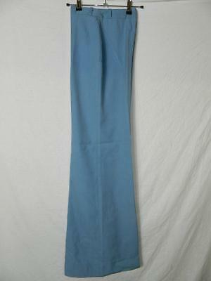 Vtg 1970's womens trousers, high waisted wide leg flares pale blue W26xL32 VT001