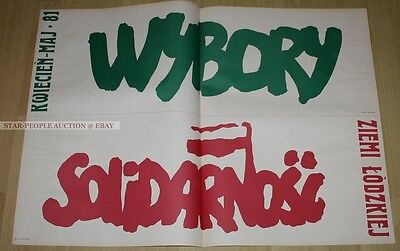 poland SOLIDARNOSC SOLIDARITY * GERMAN POSTER from 1982 * SPD PARTY * art print