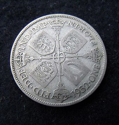 1932 Florin Two Shillings George V Silver  British coins about fine RARE DATE