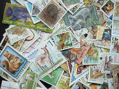ANIMAL Stamps Thematics 10 grams Whole World Mixed CTO's & Genuine Postage
