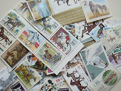 HORSE Stamps Thematics 10 grams Whole World Mixed CTO's & Genuine Postage