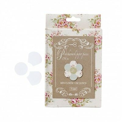 Tilda Mini Flowers Patchwork Paper Pieces - per pack of 28 (TD480932)