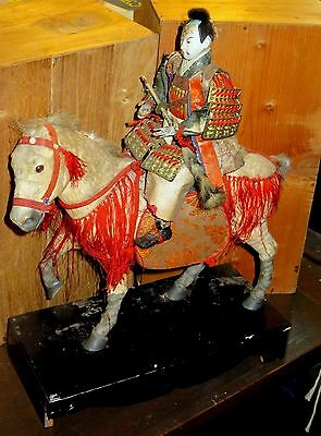 Antique Meiji or Edo Japanese Warrior on Horse in Poor Condition #ADA5141338.1