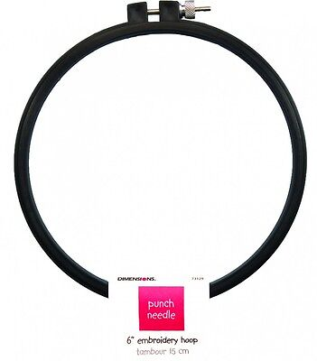 Dimensions Punch Needle Embroidery Hoop  Black (D73129)