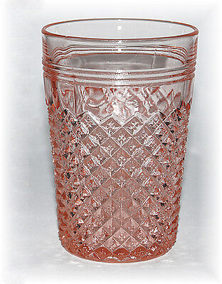 Dep Glass Hocking Miss America pk Flat Water Tumbler