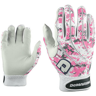 DeMarini Digi Camo Youth Baseball Batting Gloves - Pink - Large