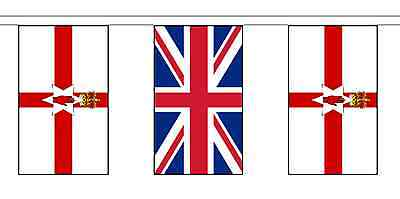 United Kingdom UK & Northern Ireland Polyester Flag Bunting - 20m with 56 Flags