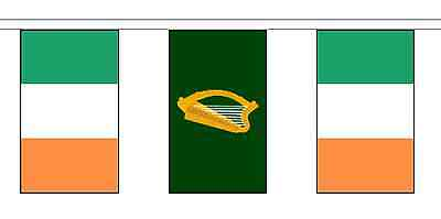 Leinster & Ireland Polyester Flag Bunting - 20m with 56 Flags