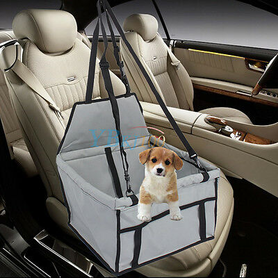 New Pet Car Booster Seat Soft Safety Dog Cat Puppy Carrier Cage Travel Bag Grey