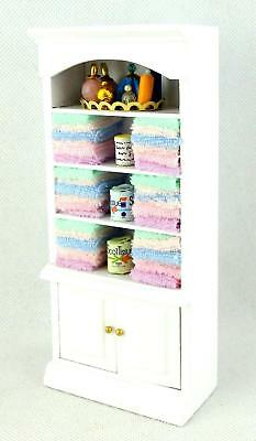 Dolls House Shelf Unit & Multi Coloured Accessories Bathroom Miniature Furniture