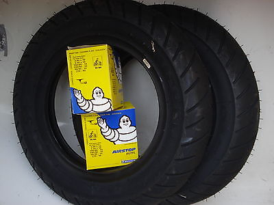 TWO Michelin S1 Tyres 3.50*10 Lambretta with Michelin inner tubes TV SX GP Li