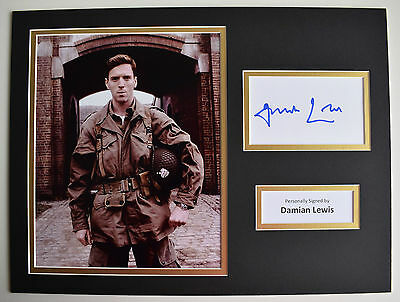 Damian Lewis SIGNED autograph 16x12 photo display Film Band of Brothers AFTAL