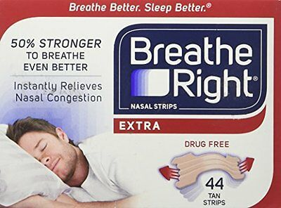Breathe Right Extra Strong Nasal Strips One Size Fits All Tan (44 ct)