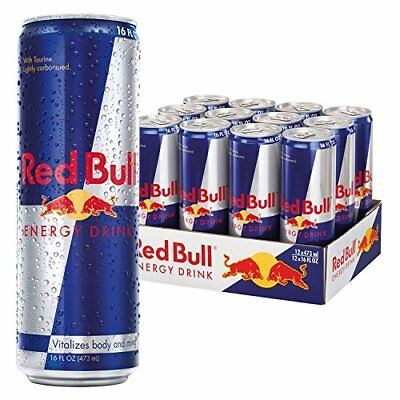 Red Bull Energy Drink, 16 Fl Oz Cans, 12 Pack New