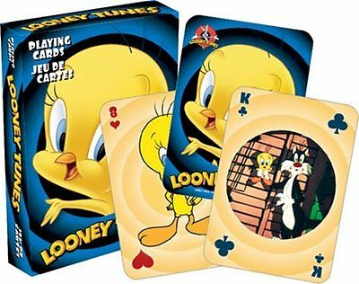 Looney Tunes Tweety Bird Art Illustrated Poker Playing Cards Deck, NEW SEALED
