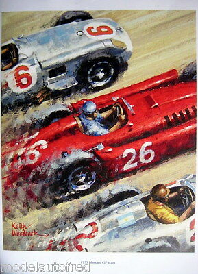 Start Monaco Grand Prix 1955 - Limited 30 pcs - Artist : Keith Woodcock