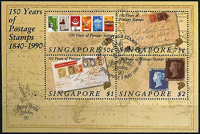Singapore 1990 SG#MS623 Penny Black Anniv Cto Used M/S #D33500
