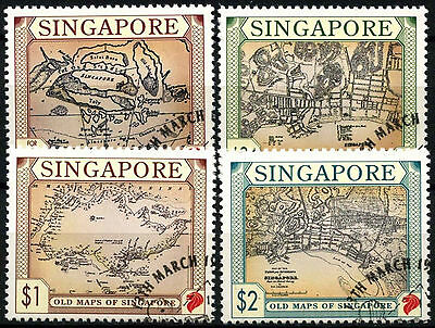 Singapore 1996 SG#828-831 Old Maps Cto Used Set #D33541